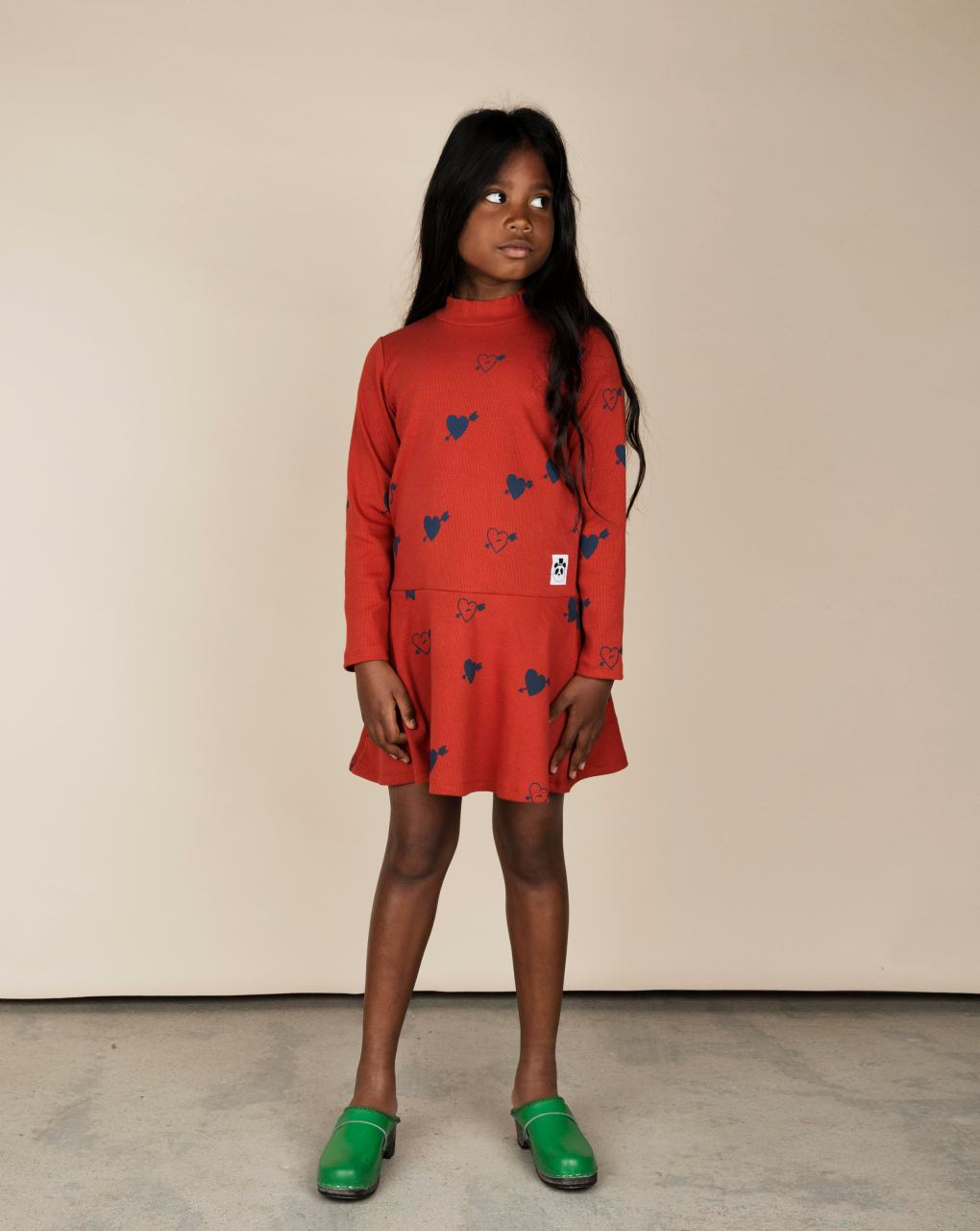 Mini Rodini Heart Rib Dance Dress Organic Cotton.jpg